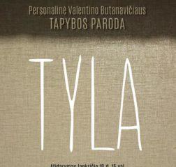 """""""TYLA""""2016′- drobė, aliejus 170X40"""